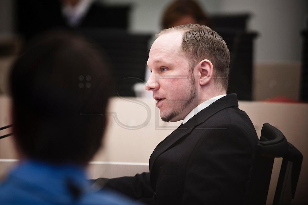 Anders Behring Breivik in court.