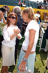 Left to right, PRINCESS BEATRICE OF YORK and MISS ALICE FERGUSON sister of Sarah, Duchess of York at the Veuve Clicquot sponsored Gold Cup or the British Open Polo Championship won by The  Azzura polo team who beat The Dubai polo team 17-9 at Cowdray Park, West Sussex on 18th July 2004.