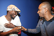 l to r: Khalil aka Anwar and Mos Def at The Black Star Concert presented by BlackSmith and Live N Direct held at The Nokia Theater in New York City on May 30, 2009