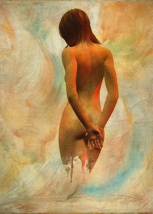 This image of a nude woman from the back gives you some immediate thoughts, in terms of its potential meaning. You might be inclined to think that this woman has taken a submissive pose. This is often something that is associated with putting your hands behind your back. Her gesture seems to be casual, so we can also perhaps guess that this is not something we should actually be concerned about. Perhaps she is hiding a secret, or she is merely being playful with whomever she might be looking at. As far as this fine art piece is concerned, what do you think is going on? .<br /> <br /> BUY THIS PRINT AT<br /> <br /> FINE ART AMERICA<br /> ENGLISH<br /> https://janke.pixels.com/featured/amy-nude-from-the-back-jan-keteleer.html<br /> <br /> <br /> WADM / OH MY PRINTS<br /> DUTCH / FRENCH / GERMAN<br /> https://www.werkaandemuur.nl/nl/shopwerk/Erotisch-naakt---naakt-vanaf-de-achterkant/445551/134