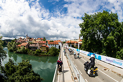 Peloton over the bridge in town Novo mesto during 5th Stage of 26th Tour of Slovenia 2019 cycling race between Trebnje and Novo mesto (167,5 km), on June 23, 2019 in Slovenia. Photo by Matic Klansek Velej / Sportida