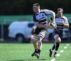 Pontypridd's Sean Moore<br /> Pontypridd RFC v Cardiff RFC<br /> <br /> Photographer Mike Jones / Replay Images<br /> Sardis Road, Pontypridd.<br /> Wales - 5th May 2018.<br /> <br /> Pontypridd RFC v Cardiff RFC<br /> Principality Premiership<br /> <br /> World Copyright © Replay Images . All rights reserved. info@replayimages.co.uk - http://replayimages.co.uk