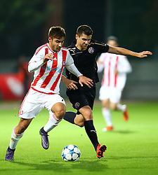 04.11.2015, Karaiskakis Stadium, Piraeus, GRE, UEFA CL, Olympiacos vs Dinamo Zagreb, Gruppe F, im Bild Giorgios Manthatis, Amer Gojak // during UEFA Champions League group F match between Olympiacos and Dinamo Zagreb at the Karaiskakis Stadium in Piraeus, Greece on 2015/11/04. EXPA Pictures © 2015, PhotoCredit: EXPA/ Pixsell/ Slavko Midzor<br /> <br /> *****ATTENTION - for AUT, SLO, SUI, SWE, ITA, FRA only*****