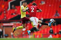Football - 2020 / 2021 Premier League - Manchester United vs Burnley - Old Trafford<br /> <br /> Victor Lindelof of Manchester United and Josh Brownhill of Burnley at Old Trafford<br /> <br /> Credit COLORSPORT/LYNNE CAMERON