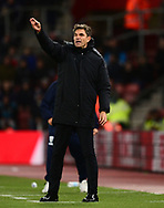 Mauricio Pellegrino, the manager of Southampton on the touchline .Premier league match, Southampton v West Bromwich Albion at the St. Mary's Stadium in Southampton, Hampshire, on Saturday 21st  October 2017.<br /> pic by Bradley Collyer, Andrew Orchard sports photography.