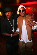 l to r: Jadakiss and Lupe Fiasco at the Robin Thicke?s Album Release ' Something Else' with Exclusive Event at Rainbow Room sponsored by Target on September 20, 2008 in New York City.