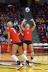 09 October 2009: Skylar Lesan The Redbirds of Illinois State defeated the Braves of Bradley in 3 sets during play in the Redbird Classic on Doug Collins Court inside Redbird Arena in Normal Illinois