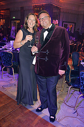 JAMES BOWATER and NICKY COE former wife of Lord Sebastian Coe at the David Shepherd Wildlife Foundation Wildlife Ball at The Dorchester, Park Lane, London on 9th October 2015.