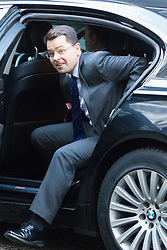 Downing Street, London, January 17th 2017. Northern Ireland Secretary James Brokenshire arrives at the weekly cabinet meeting at 10 Downing Street.