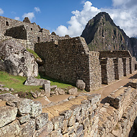 Partial view of the urban section of Machu Picchu.