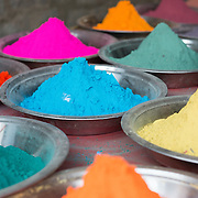 Colourful powders in an Indian market