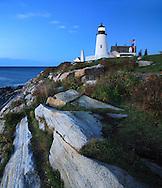Pemaquid Point Lighthouse At Sunrise, Bristol, Maine