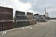 Nederland, Rossum, 16-7-2019 Grote stapels stenen, bakstenen, liggen op het terrein van steenfabriek Rodruza . Foto: Flip Franssen