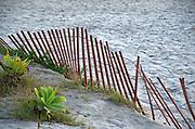 Wood Beach Fence
