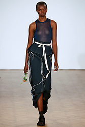 Model Akiima walks on the runway during the Pringle of Scotland Fashion Show during London Fashion Week Spring Summer 2018 held at One Marylebone in London, England on September 18, 2017. (Photo by Jonas Gustavsson/Sipa USA)
