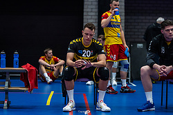 Jeffrey Klok of Dynamo disappointed after the cup final between Amysoft Lycurgus vs. Draisma Dynamo on April 18, 2021 in sports hall Alfa College in Groningen