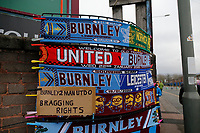 Football - 2019 / 2020 Emirates FA Cup - Fourth Round: Burnley vs. Norwich City<br /> <br /> Scarves on sale outside today's match, at Turf Moor.<br /> <br /> COLORSPORT/ALAN MARTIN