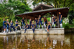 05-10-2018 JPN: World Championship Volleyball Women day 7, Nagoya<br /> Travel day from Yokohama to Nagoya with the bullet train.<br /> Team NL photo in Shimazano Park