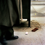 Brown Suede Glove (Mens Right Hand) In front of 32 East 57th Street, @ Madison Avenue13-February, 2003, 2:50 PM