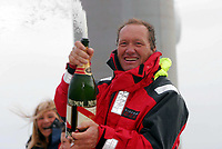 Seiling<br /> Foto: Digitalsport<br /> Norway Only<br /> <br /> SAILING - SINGLE-HANDED ROUND THE WORLD RECORD - BREST FINISH - 03/02/2004 <br /> <br /> IDEC / SKIPPER : FRANCIS JOYON (FRA) - 72 DAYS 22 HOURS 54 MINUTES 22 SECONDS - IDEC WAS FORMERLY NAMED SPORT-ELEC AND IS 27 METERS LONG