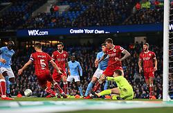Frank Fielding of Bristol City makes a save - Mandatory by-line: Matt McNulty/JMP - 09/01/2018 - FOOTBALL - Etihad Stadium - Manchester, England - Manchester City v Bristol City - Carabao Cup Semi-Final First Leg