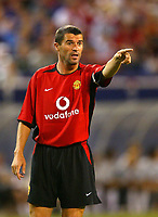 Photo Aidan Ellis.<br /> Manchester United v juventus (Champions World Match at New York Giants Stadium East Rutherford).31/07/03.<br /> Roy Keane issues some instructions.