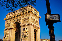 France, Paris (75), place de l'Etoile, Arc de Triomphe // France, Paris, Arc de Triomphe