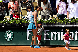 June 9, 2018 - Paris, France, France - Amelie Mauresmo avec sa fille Ayla et son fils Aaron (Credit Image: © Panoramic via ZUMA Press)