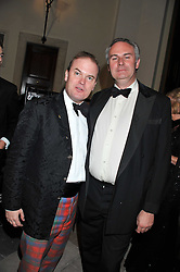 Left to right, LORD DALMENY and WILLIAM CASH at a dinner in aid of Caring For Courage - The Royal Scots Dragoon Guards Afghanistan Welfare Appeal held at The Royal Hospital Chelsea, London SW3 on 20th October 2011.