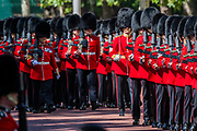 Bands and Guardsmen march down the Mall - His Royal Highness the Duke of York reviews the final rehearsal for the Trooping the Colour on Horseguards Parade and the Mall.