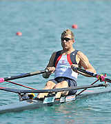 Banyoles, SPAIN, GBR M1X, Ian LAWSON, at the start of Final C Men's single sculls. FISA World Cup Rd 1. Lake Banyoles  Saturday, 30/05/2009   [Mandatory Credit. Peter Spurrier/Intersport Images]