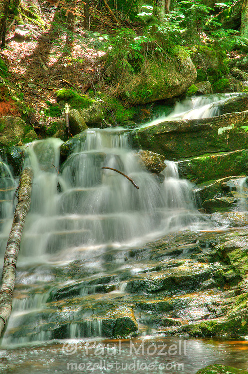 Champney Brook runs down the North side of Mt. Chocorua in the Whie Mountain National Forest, New Hampshire
