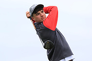 Mel Deasy (Lee Valley) on the 1st tee during Round 2 of the Connacht U16 Boys Amateur Open Championship at Galway Bay Golf Club, Oranmore, Galway on Wednesday 17th April 2019.<br /> Picture:  Thos Caffrey / www.golffile.ie