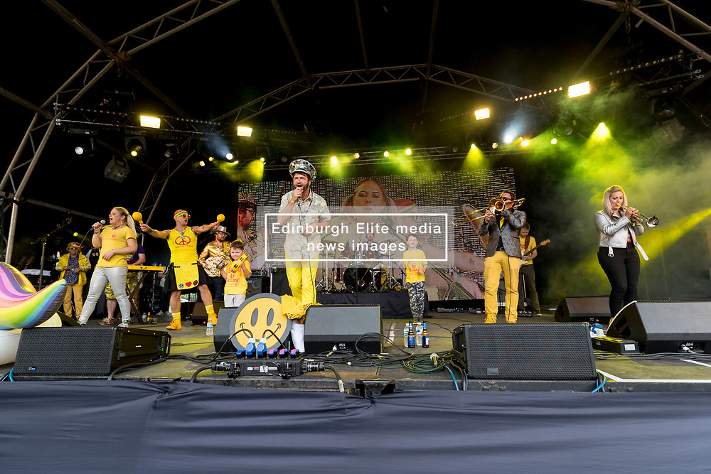 Colonel Mustard and the Dijon 5performing at Party At The Palace Music Festival in Linlithgow Palace grounds on Sat 11th August 2018.<br /> <br /> <br /> Alan Rennie/ EEm