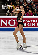 Eunsoo Lim Posing on the ICE Representing Korea during the ISU - Four Continents Figure Skating Championships, at the Honda Center in Anaheim California, February 5-10, 2019