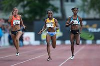 Ivet Lalova / Marie Josee Ta Lou / Sherone Simpson - 200m - 09.06.2015 - Meeting de Montreuil<br />Photo : Andre Ferreira / Icon Sport