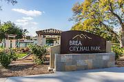 Brea City Hall Park Monument