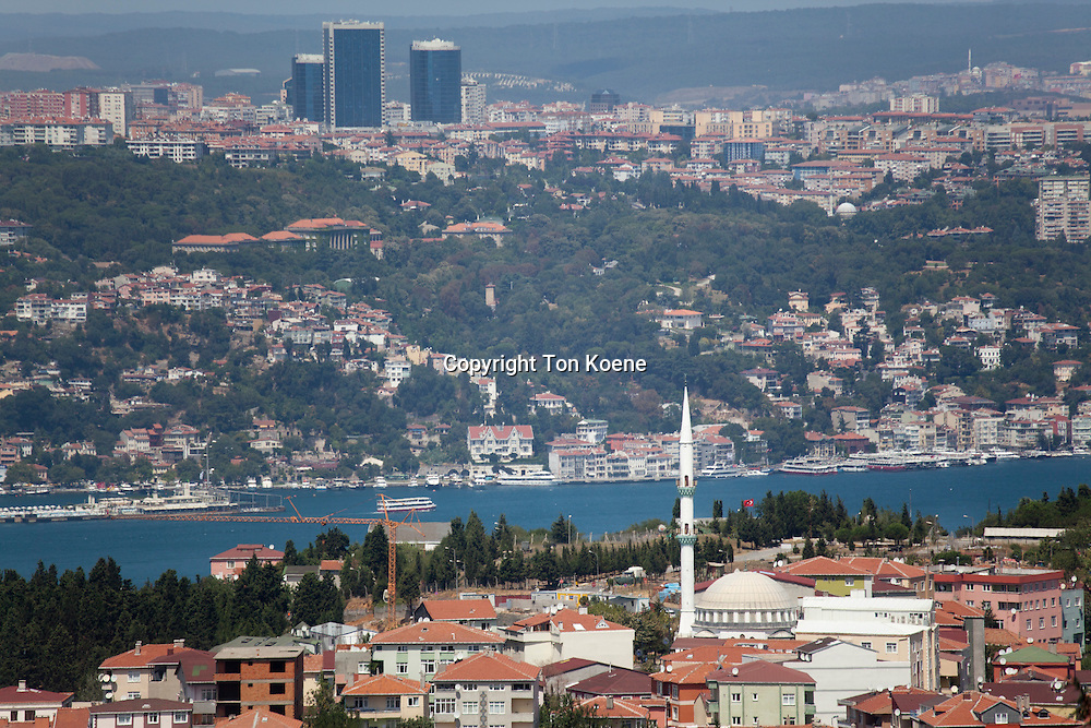 view from the eastern side of Istanbul on the Bosphorus