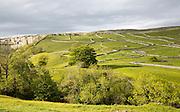 Fields and dry stonewalls, Malham, Yorkshire Dales national park, England, UK