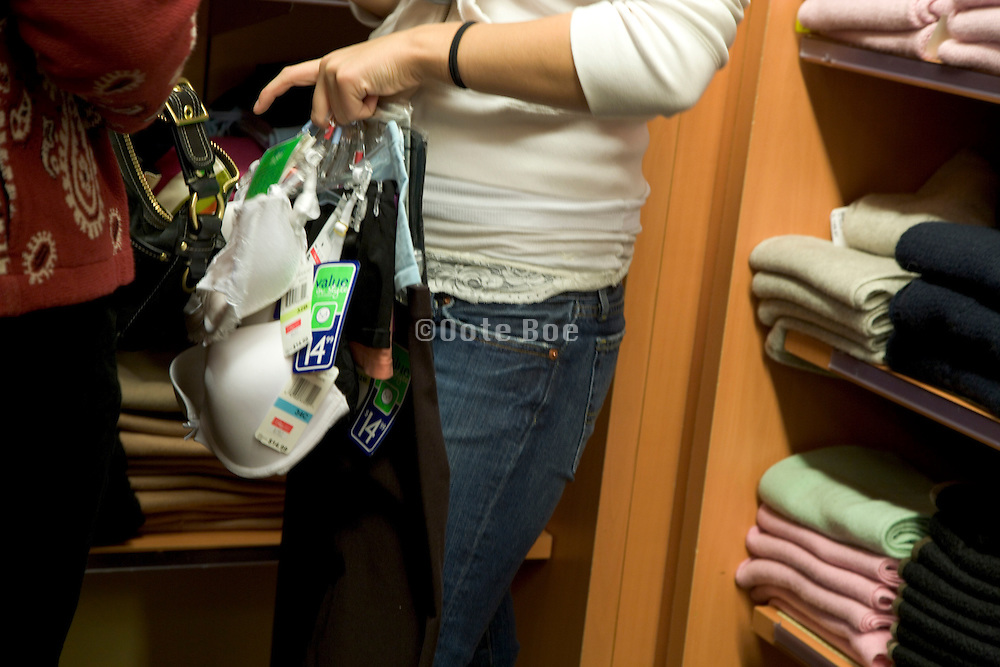woman on a shopping spree at a department store