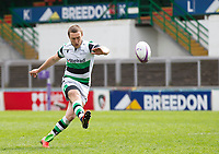 Rugby Union - 2020 / 2021 ER Challenge Cup - Quarter-Final - Leicester Tigers  vs Newcastle Falcons - Welford Road<br /> <br /> Brett Connon of Newcastle Falcons converts a penalty to make it 5-3 to Leicester Tigers<br /> <br /> Credit : COLORSPORT/BRUCE WHITE