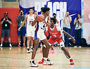 NORTH AUGUSTA, SC. July 10, 2019. Jalen Green 2020 #4 of Team WhyNot 17U at Nike Peach Jam in North Augusta, SC. <br /> NOTE TO USER: Mandatory Copyright Notice: Photo by Jon Lopez / Nike