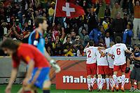 FOOTBALL - FIFA WORLD CUP 2010 - GROUP STAGE - GROUP H - SPAIN v SWITZERLAND - 16/06/2010 - PHOTO GUY JEFFROY / DPPI - JOY SWITZERLAND