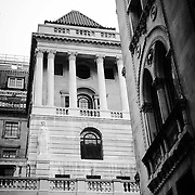 View of Bank of England from Tokenhouse Yard.<br /> <br /> Shot on iPhone 6 on evening ride.