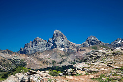 Grand Tetons from the often overlooked west side of the range. This was taken from Grand Targhee Mountain Resort west of Alta Wyoming.