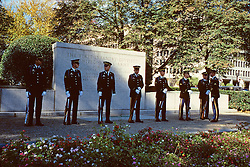 Soldiers At First Infantry Memorial