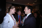Aimee le Roex and Colin Gray. Celebration of Dunhill Motorities, Dunhill, 48 Jermyn St. London. 19 May 2005. ONE TIME USE ONLY - DO NOT ARCHIVE  © Copyright Photograph by Dafydd Jones 66 Stockwell Park Rd. London SW9 0DA Tel 020 7733 0108 www.dafjones.com