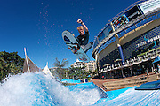 Billy Tennant operating at the Wave House, Durban, South Africa