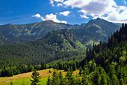 Widok z Polany Kalatówki w Tatrach Zachodnich, Polska<br /> View of the Kalatówki glacier in the Western Tatra Mountains, Poland