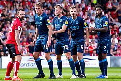 Tom Davies, Alfie Kilgour, Tony Craig and Mark Little of Bristol Rovers - Mandatory by-line: Robbie Stephenson/JMP - 14/09/2019 - FOOTBALL - Sincil Bank Stadium - Lincoln, England - Lincoln City v Bristol Rovers - Sky Bet League One